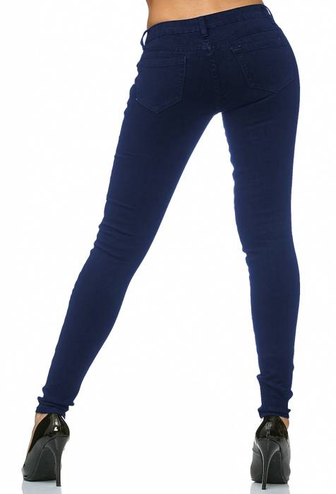 Damen Treggings Stretch Jeans Skinny Hüfthose D2182 – Bild 13