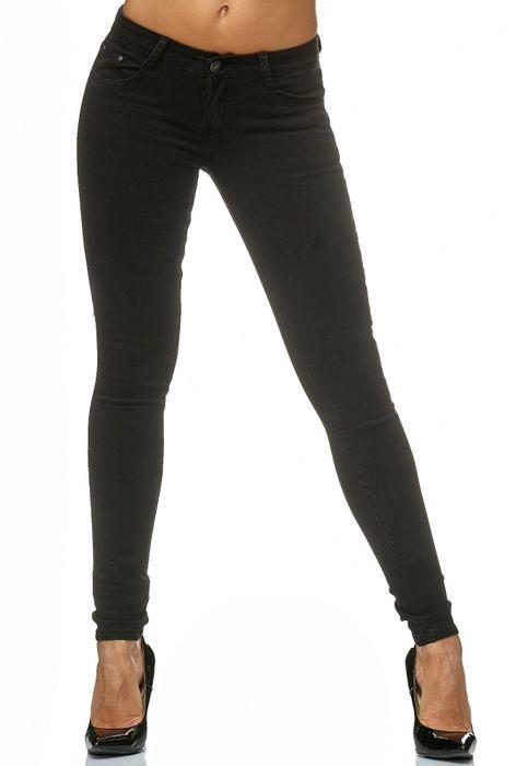 Damen Treggings Stretch Jeans Skinny Hüfthose D2182 – Bild 2