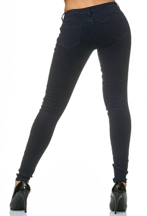 Damen Treggings Stretch Jeans Skinny Hüfthose D2182 – Bild 11