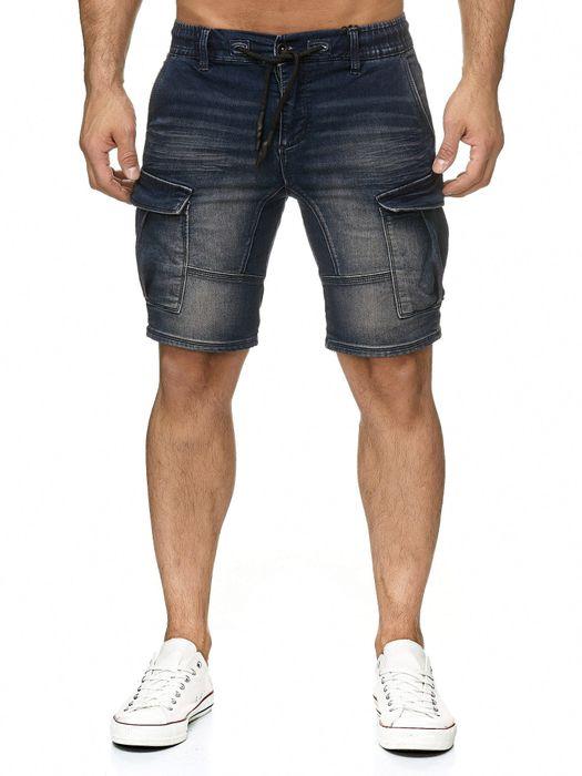 Urban Surface Herren Cargo Shorts Sweat Jeans Bermuda JoggDenim Stretch H2184 – Bild 3