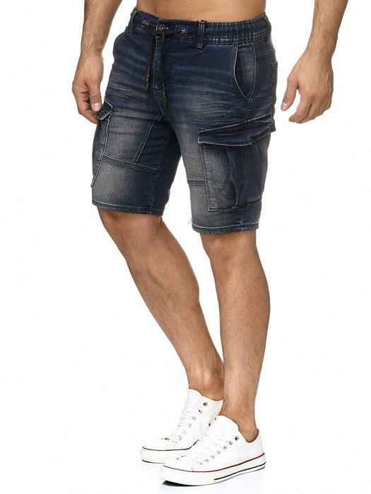 Urban Surface Herren Cargo Shorts Sweat Jeans Bermuda JoggDenim Stretch H2184 – Bild 4