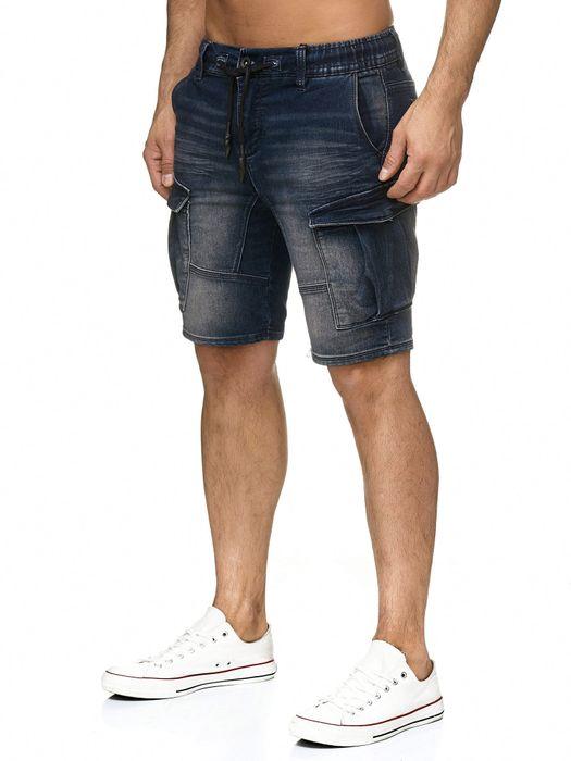 Urban Surface Herren Cargo Shorts Sweat Jeans Bermuda JoggDenim Stretch H2184 – Bild 5