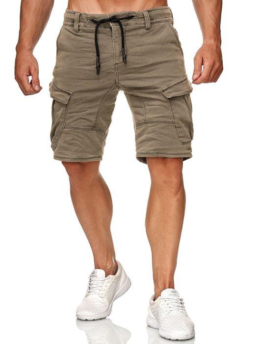 Urban Surface Herren Cargo Shorts Sweat Jeans Bermuda JoggDenim Stretch H2184 – Bild 13
