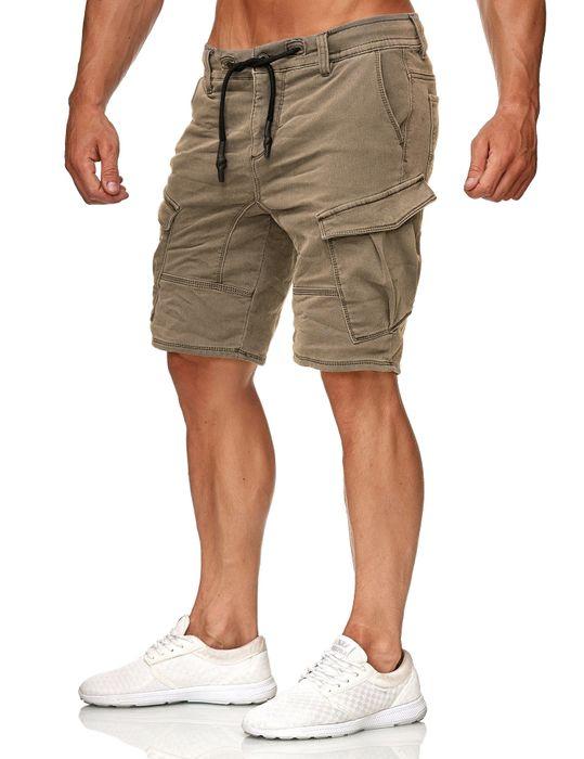 Urban Surface Herren Cargo Shorts Sweat Jeans Bermuda JoggDenim Stretch H2184 – Bild 14