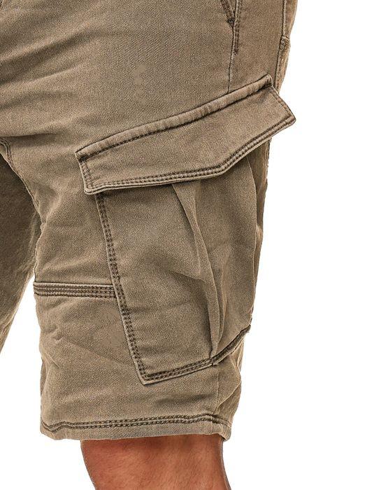 Urban Surface Herren Cargo Shorts Sweat Jeans Bermuda JoggDenim Stretch H2184 – Bild 16