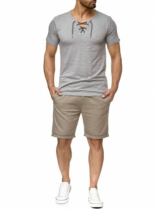 Sublevel Herren T-Shirt Short Sleeve Meliert H2189 – Bild 3