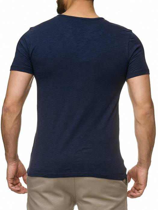 Sublevel Herren T-Shirt Short Sleeve Meliert H2189 – Bild 13