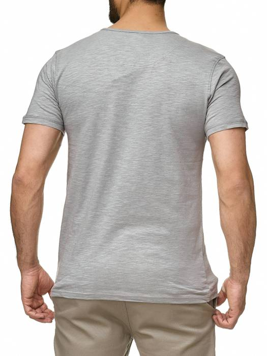 Sublevel Herren T-Shirt Short Sleeve Meliert H2189 – Bild 5
