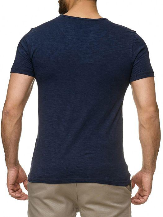 Sublevel Herren T-Shirt Short Sleeve Meliert H2189 – Bild 13