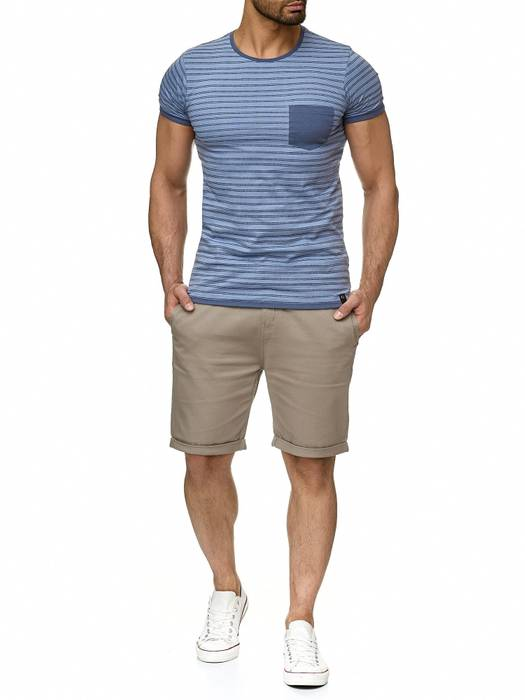 Urban Surface Herren T Shirt Gestreift Maritim H2190 – Bild 7