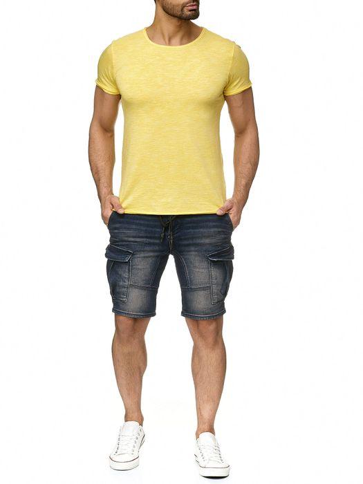 Sublevel Herren T Shirt Palmen Blätter Muster Farbeffekt H2191 – Bild 11