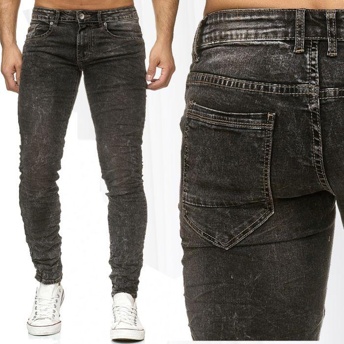 Herren Jeans Hose Vintage Washed Denim H2192 – Bild 1