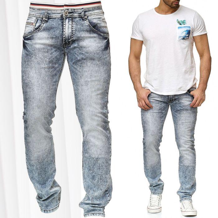 Herren Jeans Stretch Hose Dehnbund Vintage H2206 – Bild 1