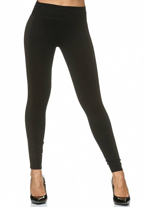 Damen Treggings High Waist Hose Stretch Biker Leggings D2221 – Bild 2