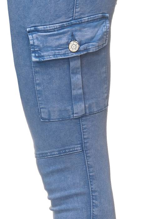 Damen Treggings Cargo Stretch Skinny Jeans Hose D2222 – Bild 16
