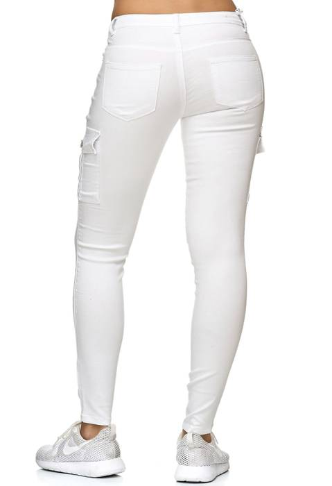 Damen Treggings Cargo Stretch Skinny Jeans Hose D2222 – Bild 20