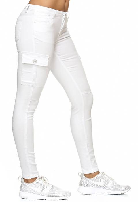 Damen Treggings Cargo Stretch Skinny Jeans Hose D2222 – Bild 19