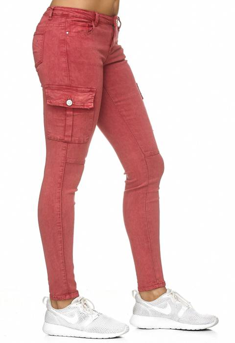 Damen Treggings Cargo Stretch Skinny Jeans Hose D2222 – Bild 24