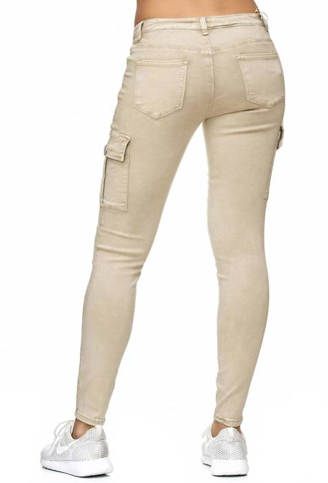 Damen Treggings Cargo Stretch Skinny Jeans Hose D2222 – Bild 10