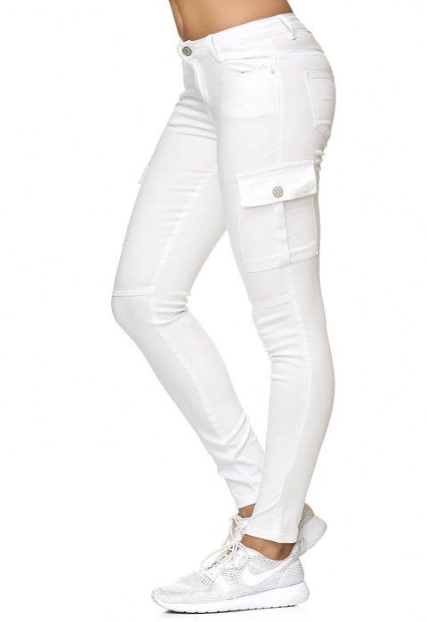 Damen Treggings Cargo Stretch Skinny Jeans Hose D2222 – Bild 18