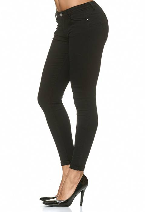Damen Treggings Push Up Jeans Effekt Hose Skinny D2223 – Bild 3