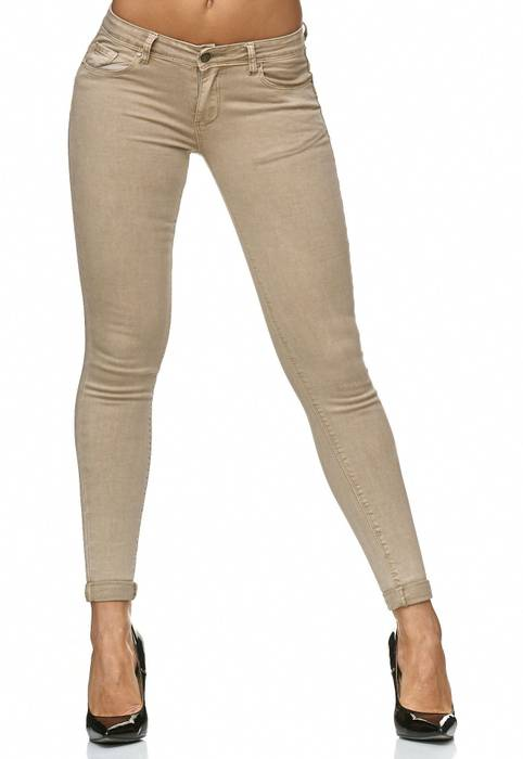 Damen Treggings Push Up Jeans Effekt Hose Skinny D2223 – Bild 12