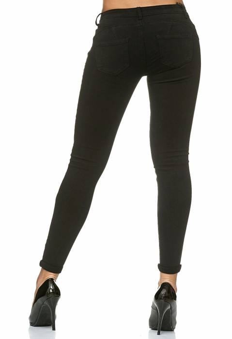 Damen Treggings Push Up Jeans Effekt Hose Skinny D2223 – Bild 5