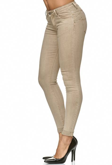 Damen Treggings Push Up Jeans Effekt Hose Skinny D2223 – Bild 13