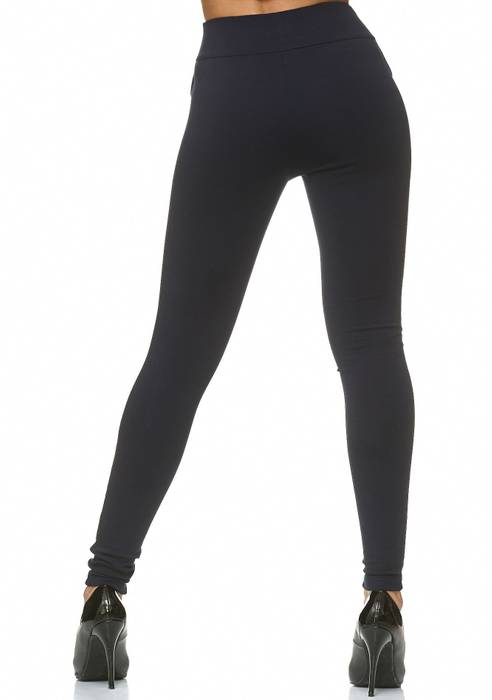 Damen Treggings Stretch High Waist Zip Hose D2226 – Bild 10