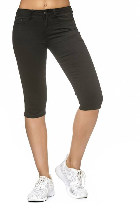 Damen Treggings Capri 3/4 Stretch Chino Jeans Hose D2228 – Bild 22