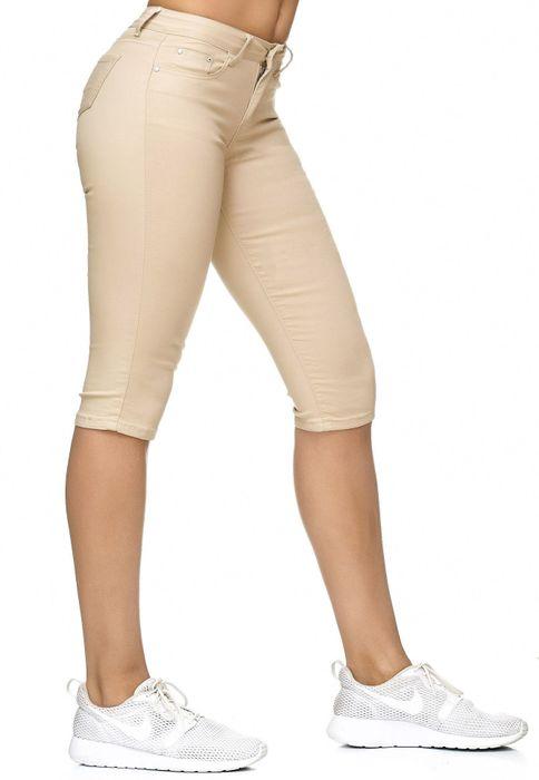 Damen Treggings Capri 3/4 Stretch Chino Jeans Hose D2228 – Bild 4