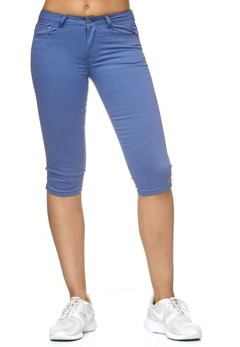 Damen Treggings Capri 3/4 Stretch Chino Jeans Hose D2228 – Bild 12