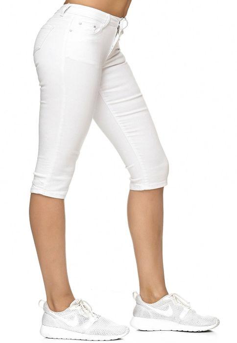 Damen Treggings Capri 3/4 Stretch Chino Jeans Hose D2228 – Bild 19