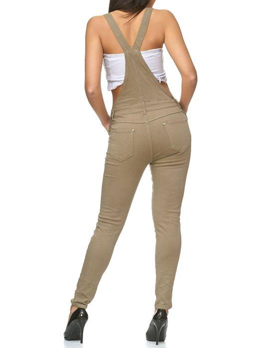 Damen Latzhose Destroyed Skinny Stretch Jeans Hosenträger D2238 – Bild 10