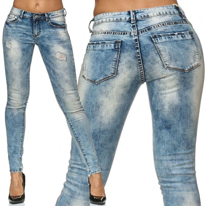 Damen Jeans Hose Stretch Skinny Röhre D2241 – Bild 1