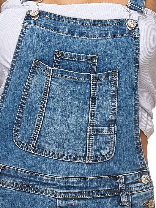 Damen Latz Shorts Latz Shorts Kurze Latzhose Hot Pants Skinny D2250 – Bild 15