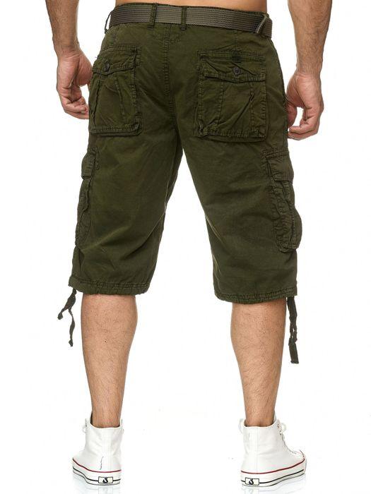 Herren Cargo Shorts Kurze Bermuda Hose 100% Baumwolle inklusive Gürtel H2260 – Bild 5