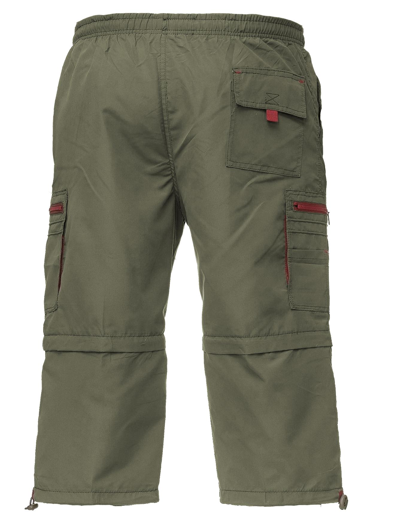 Pantaloni da uomo Cargo Shorts Zip Pants 3 4 Breve Bermuda 7 8 2 ... f0d382af75