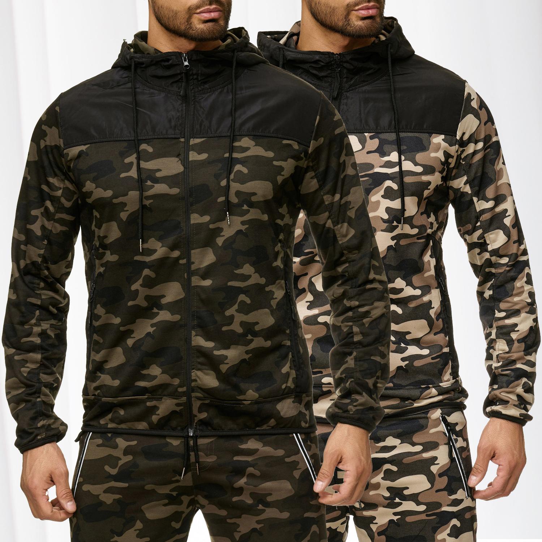 1fb90b5ad9ff Herren Camouflage Sweat Jacke Kapuzenjacke Zip Hoodie Trainingsjacke  Windbreaker - Nr 2288