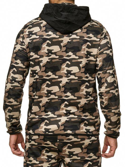 Max Men Herren Zip Hoodie Kapuzenjacke Sweat Shirt Jacke H2288 – Bild 6