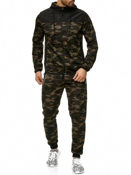 Max Men Herren Zip Hoodie Kapuzenjacke Sweat Shirt Jacke H2288 – Bild 8
