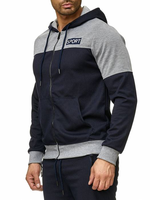 Max Men Herren Zip Hoodie Kapuzenjacke Sweat Shirt Pullover Jacke H2289 – Bild 6