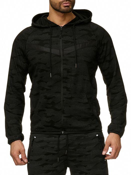 Max Men Herren Zip Hoodie Kapuzenjacke Sweat Shirt Pullover Jacke H2290 – Bild 10