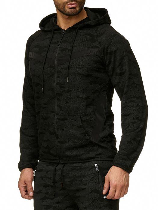 Max Men Herren Zip Hoodie Kapuzenjacke Sweat Shirt Pullover Jacke H2290 – Bild 12
