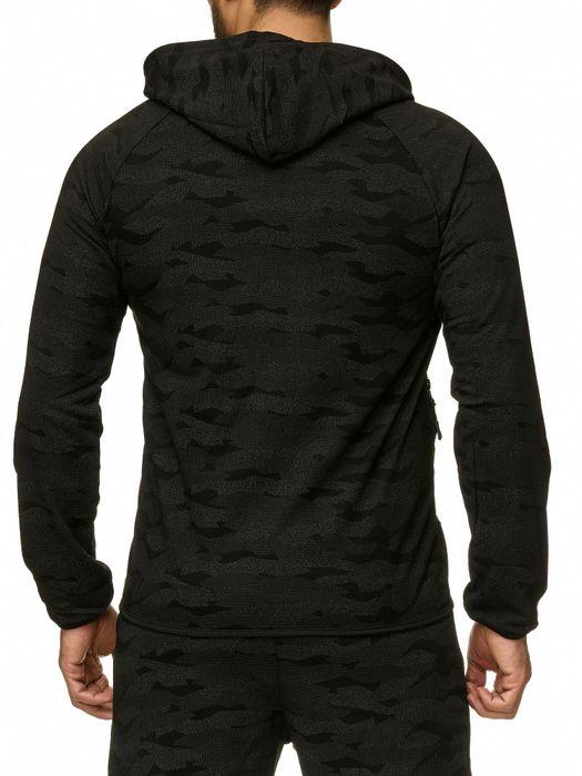 Max Men Herren Zip Hoodie Kapuzenjacke Sweat Shirt Pullover Jacke H2290 – Bild 13