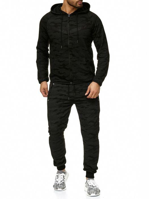 Max Men Herren Zip Hoodie Kapuzenjacke Sweat Shirt Pullover Jacke H2290 – Bild 11