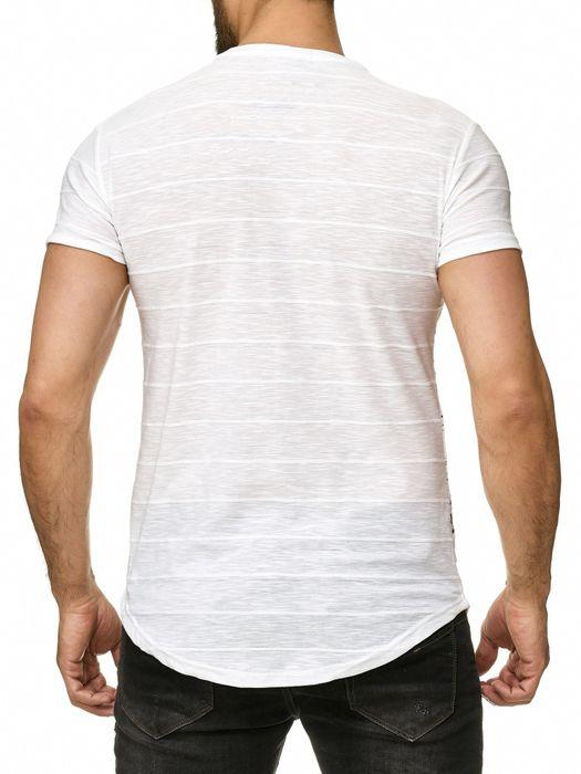 Max Men Herren T Shirt Palmen Print Short Sleeved Longshirt H2294 – Bild 7