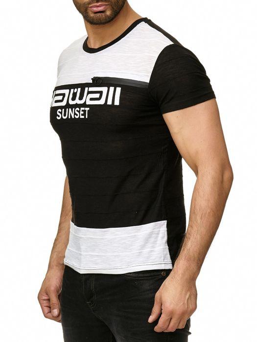 Max Men Herren T Shirt Short Sleeve Zipper Kurzarm O-Neck H2295 – Bild 10