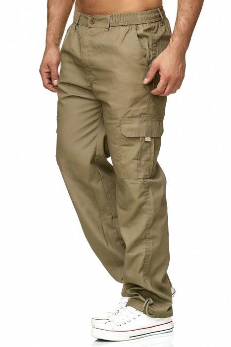 Max Men Herren Cargo Hose Stoffhose Trekking Pants Dehnbund H2301 – Bild 4
