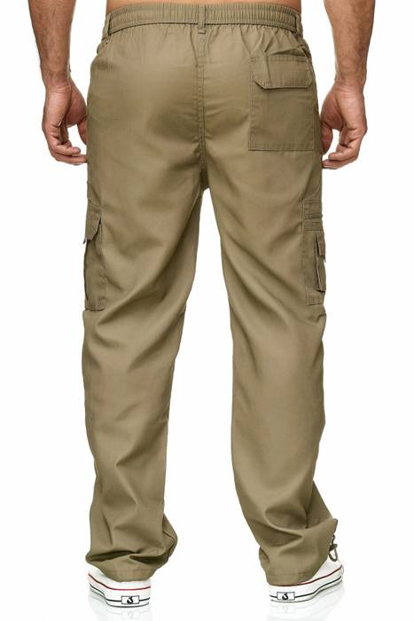 Max Men Herren Cargo Hose Stoffhose Trekking Pants Dehnbund H2301 – Bild 5